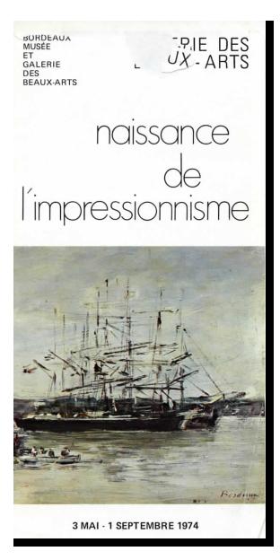 Lien vers le dépliant de l'exposition Naissance de l'impressionnisme