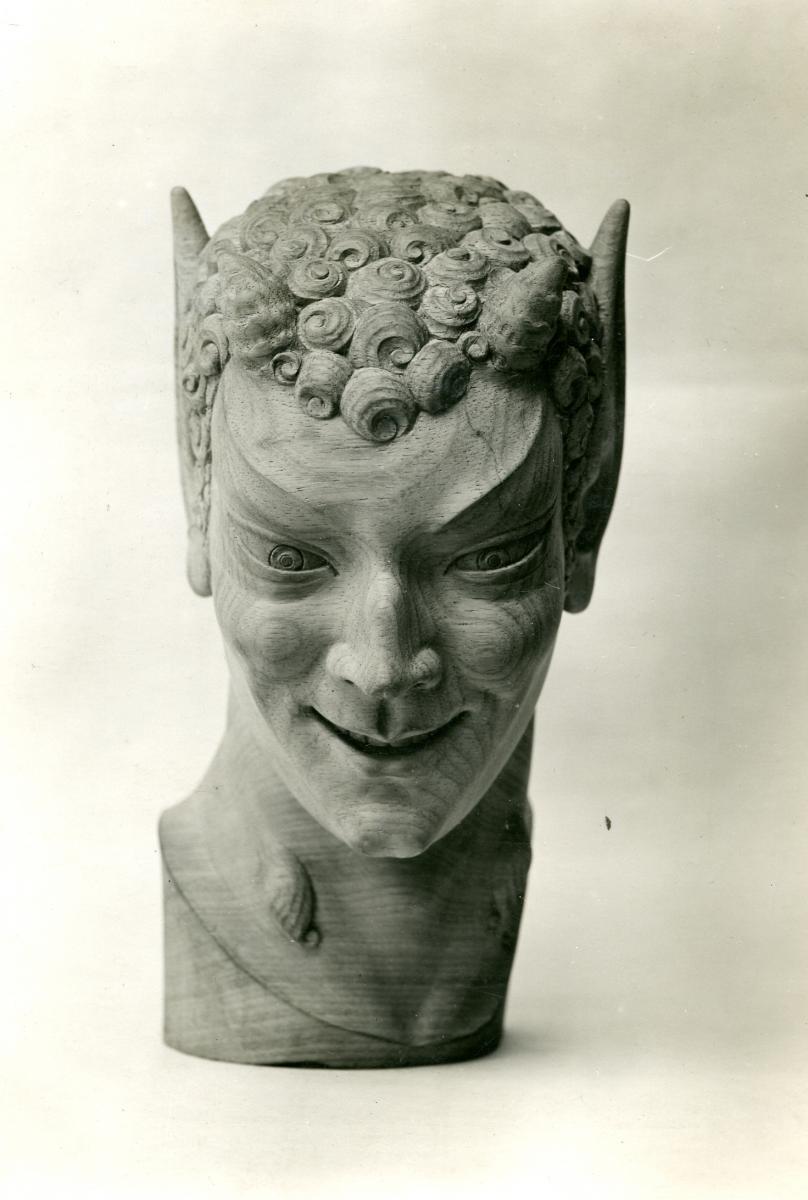 Image : Alexandre Callède. Tête de faune, 1937. Collection particulière