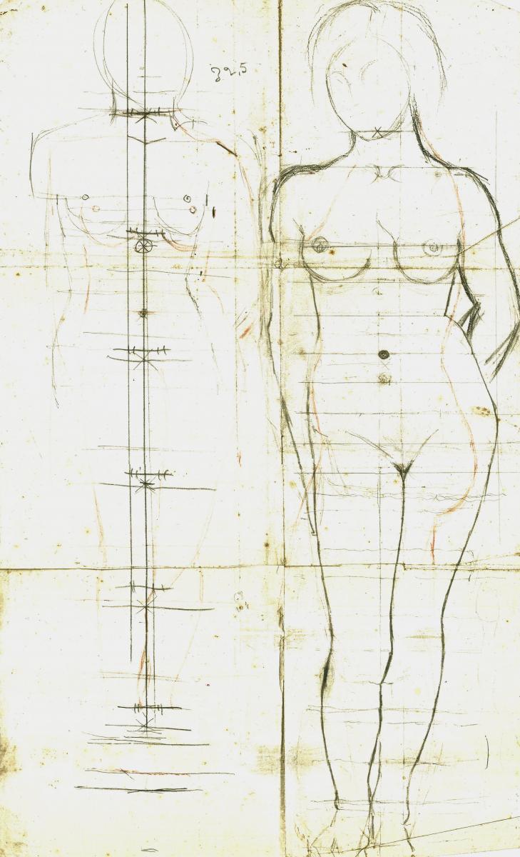 Alexandre Callède. Etude de nu, 1944-1945. Collection particulière
