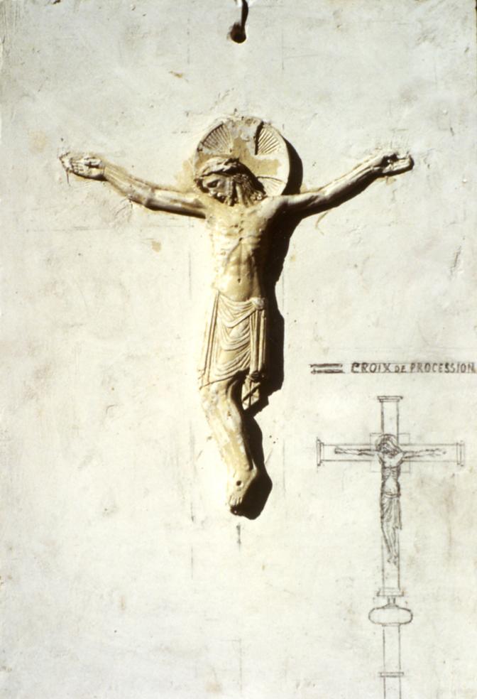 Image : Alexandre Callède. Etude pour une croix de procession, vers 1945. Collection particulière