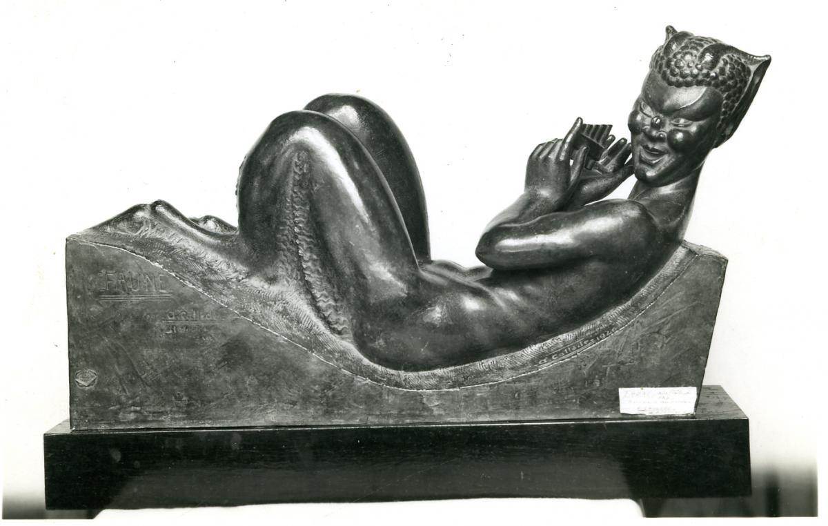 Image : Alexandre Callède. Faune couché à la flûte de pan, 1946. Collection particulière