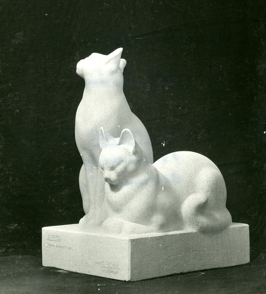 Alexandre Callède - Chats -1958. Collection particulière