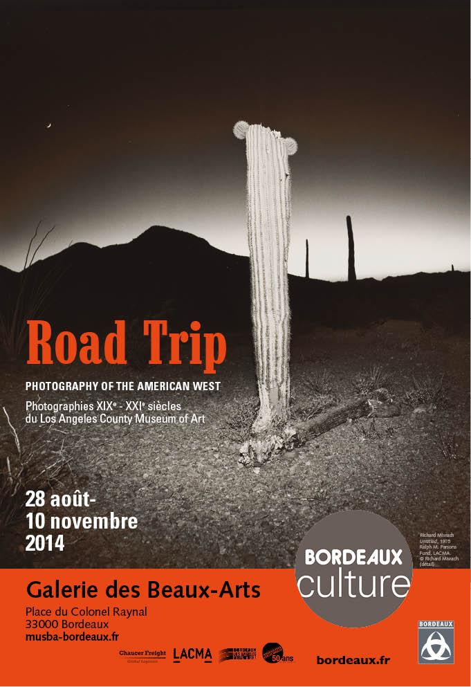 Affiche de l'exposition Road Trip - Bordeaux, 2014