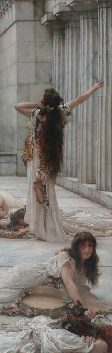 Image : ALMA TADEMA, Les Femmes d'Amphissa-Clark Art Institute (détail)