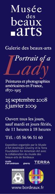 Image de la bannière installée sur la façade de la Galerie des Beaux-Arts
