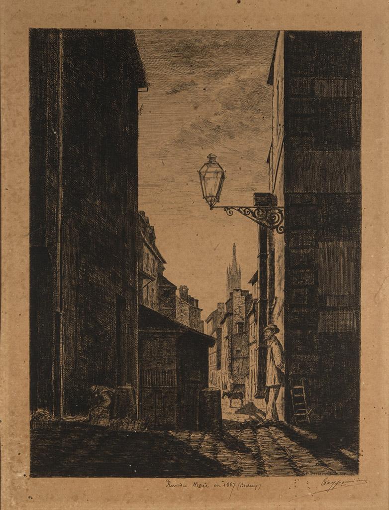 Lien pour agrandir l'image : Pierre Teyssonnières, Ru du Mû. Bordeaux, musée des Beaux-Arts. Serge Fernandez