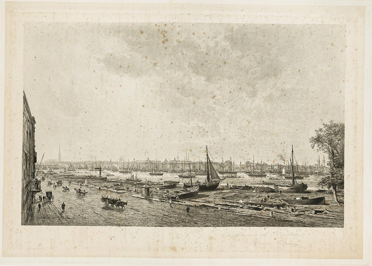 Lien agrandir l'image  : Bordeaux rive droite. Maxime Lalanne. Bordeaux, musée des Beaux-Arts. Serge Fernandez