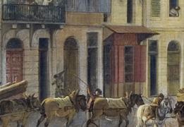 Détail : Devant le Café des Américains © Musée des Beaux-Arts - Bordeaux