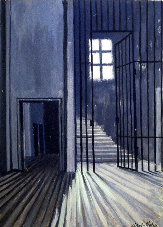 Pierre Cizos-Natou. La Cellule de Van Gogh, Saint-Paul-de-Mausole, 1964. Collection particulière