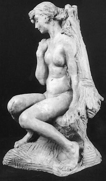 Image : Camille Claudel, Jeune fille à la Gerbe, terre cuite. Paris, musée Rodin