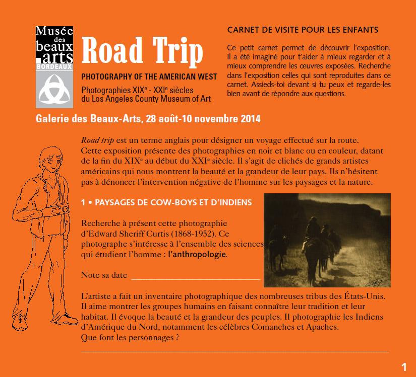 Carnet enfants pdf : Road Trip