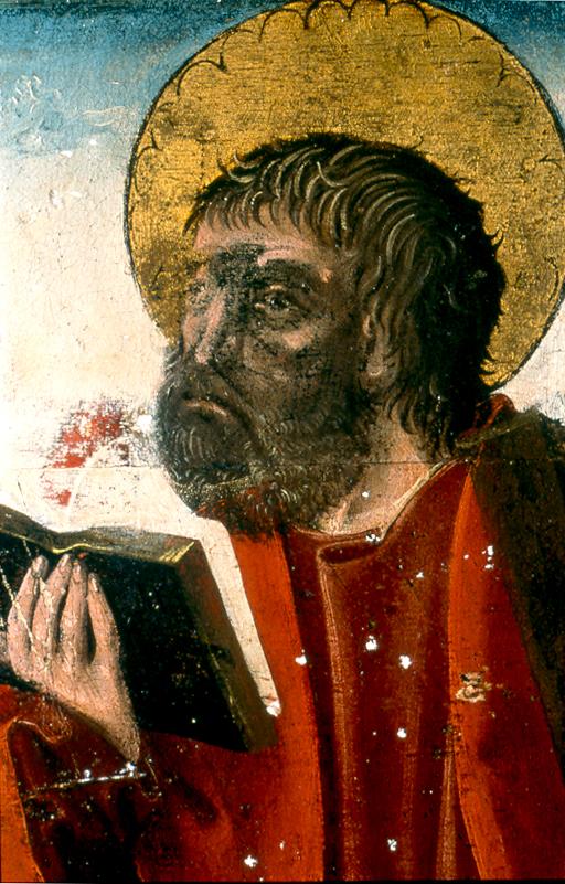 Hans Clot, Vierge de Pitié, détail (saint André)