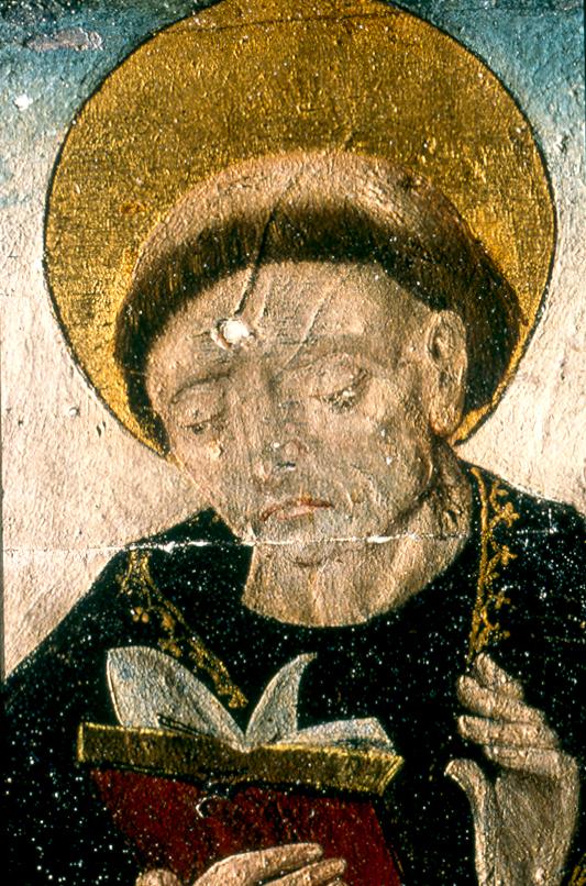Hans Clot, Vierge de Pitié, détail (saint Siméon ou Simon)