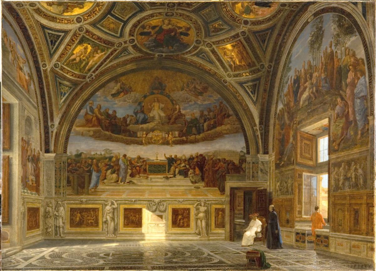 """Lien vers la notice de l'oeuvre de Victor Navlet """"Salle de la signature au Vatican"""", 1872 (c) Musée des Beaux-Arts - Mairie de Bordeaux. Cliché F. Deval"""