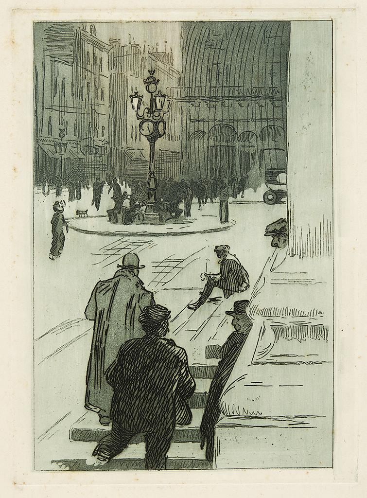 Lien pour agrandir l'image : Robert Caumont, Sur les marches du Grand Théâtre. Bordeaux, musée des Beaux-Arts. Serge Fernandez