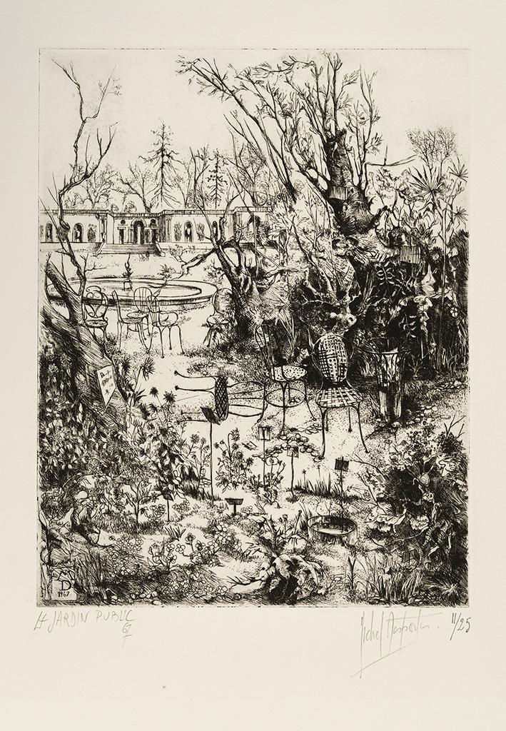 Lien agrandir l'image  : Le Jardin Public, Michel Desportes. Dépôt Robert Coustet, Bordeaux, musée des Beaux-Arts. Serge Fernandez