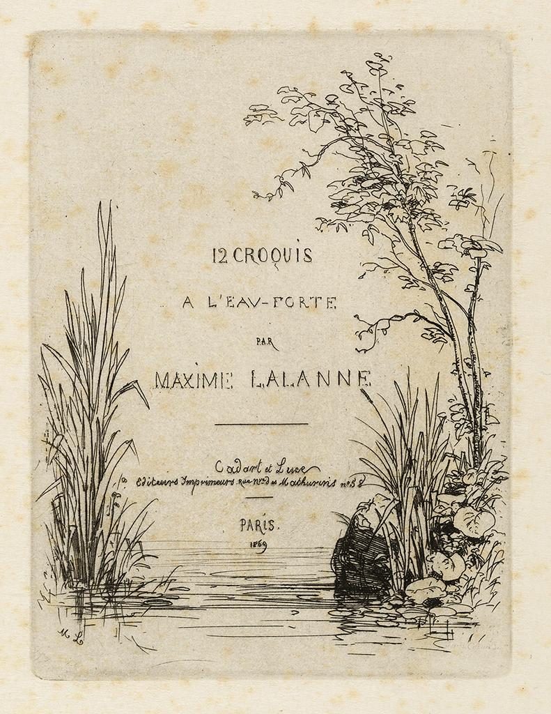Lien agrandir l'image  : Frontispice, Douze croquis à l'eau-forte. Maxime Lalanne. Bordeaux, musée des Beaux-Arts. Serge Fernandez