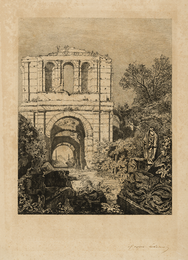 Lien agrandir l'image  : Palais Gallien, Maxime Lalanne. Bordeaux, musée des Beaux-Arts. Serge Fernandez