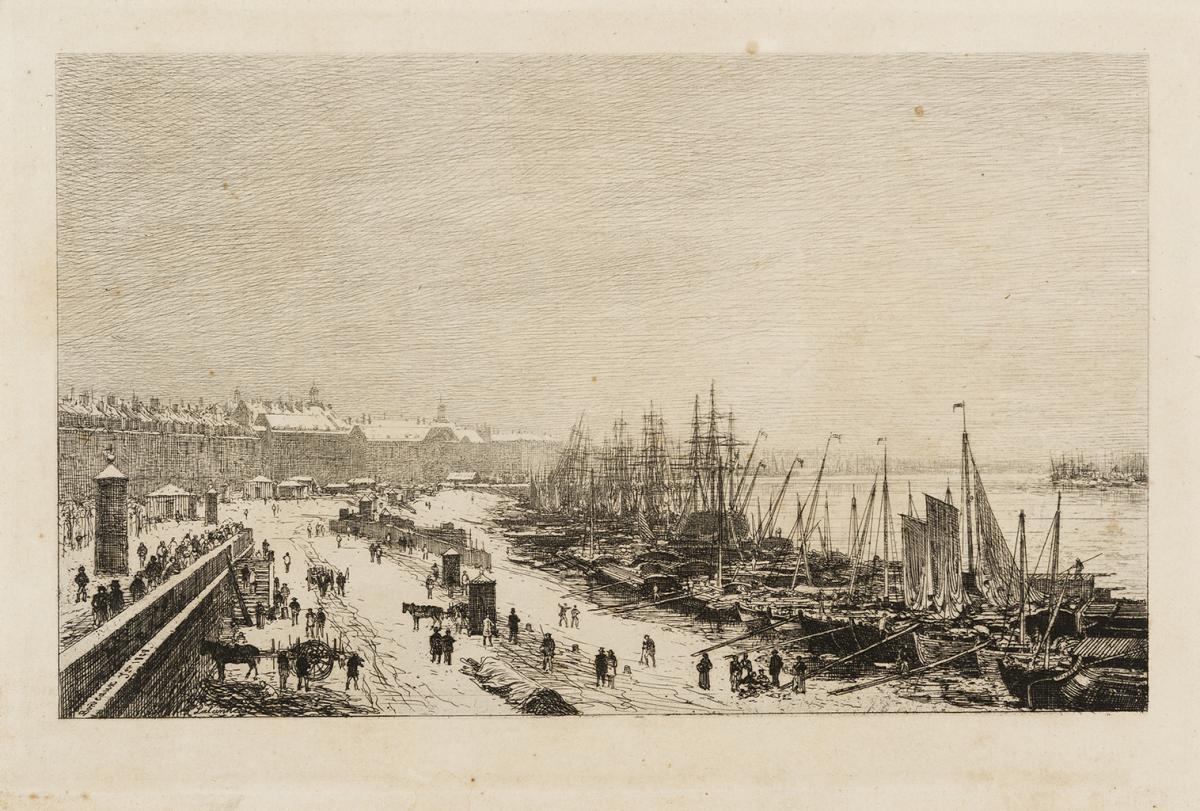 Lien agrandir l'image  : Rade de Bordeaux. Maxime Lalanne. Bordeaux, musée des Beaux-Arts. Serge Fernandez