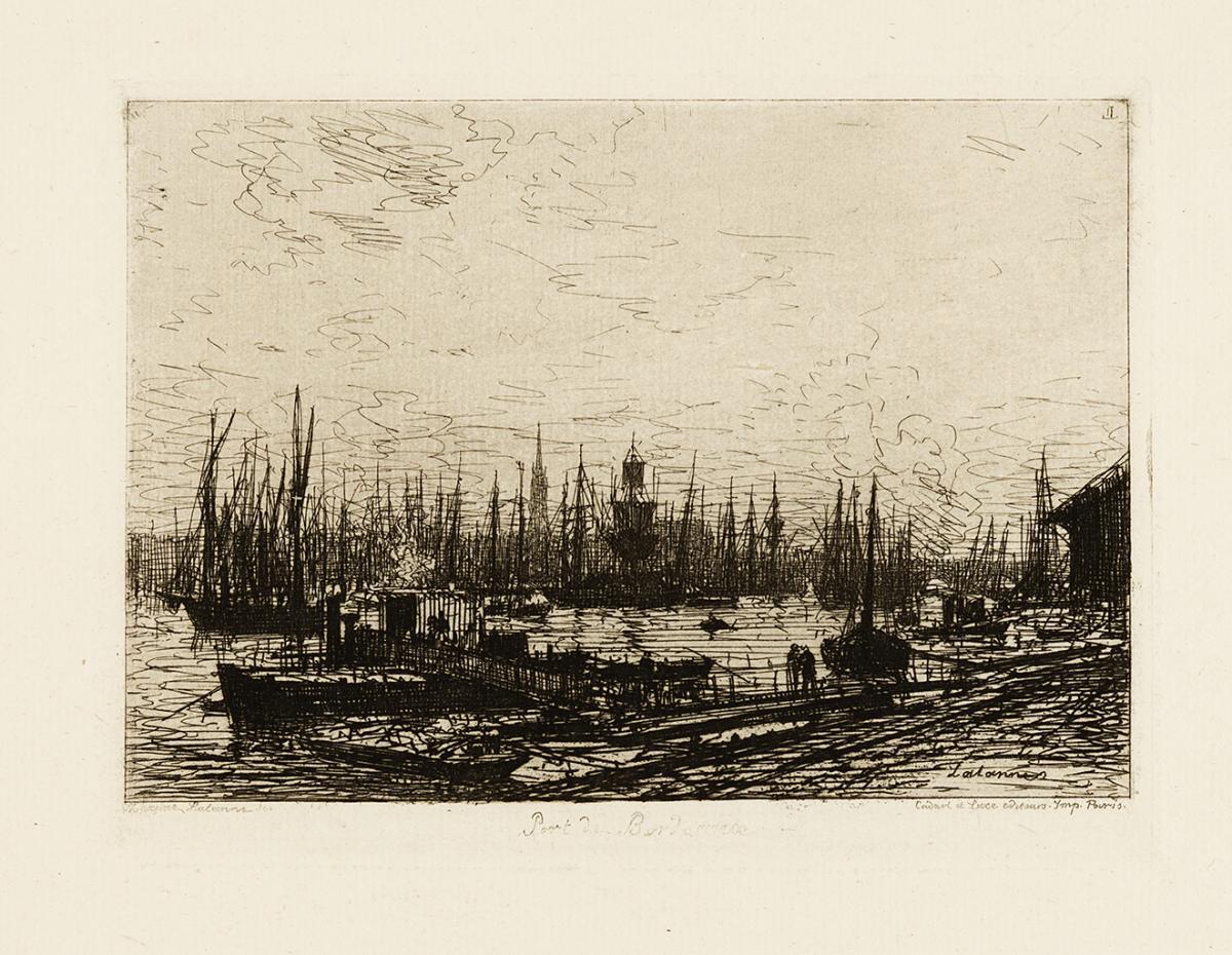Lien agrandir l'image  : Port de Bordeaux. Maxime Lalanne. Bordeaux, musée des Beaux-Arts. Serge Fernandez
