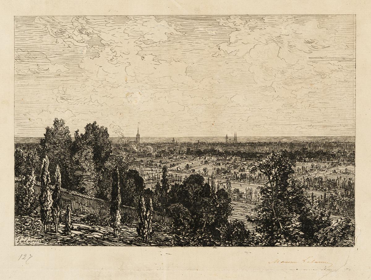 Lien agrandir l'image  : Bordeaux vu de Cenon. Maxime Lalanne. Bordeaux, musée des Beaux-Arts. Serge Fernandez