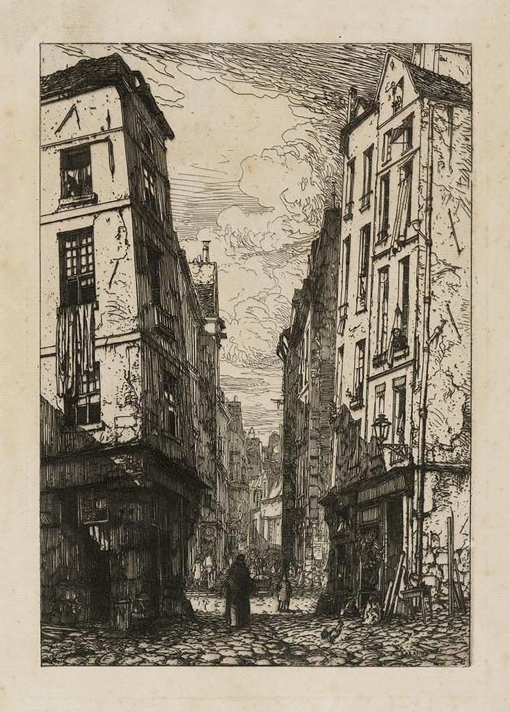 Lien agrandir l'image  : Rue des Marmousets à Paris. Maxime Lalanne. Bordeaux, musée des Beaux-Arts. Serge Fernandez