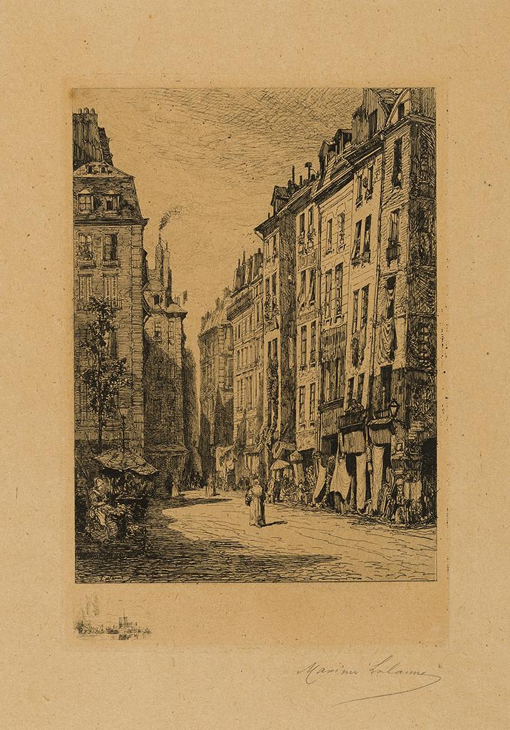 Lien agrandir l'image  : Maison Molière, rue de la Tonnellerie, Paris. Maxime Lalanne. Bordeaux, musée des Beaux-Arts. Serge Fernandez