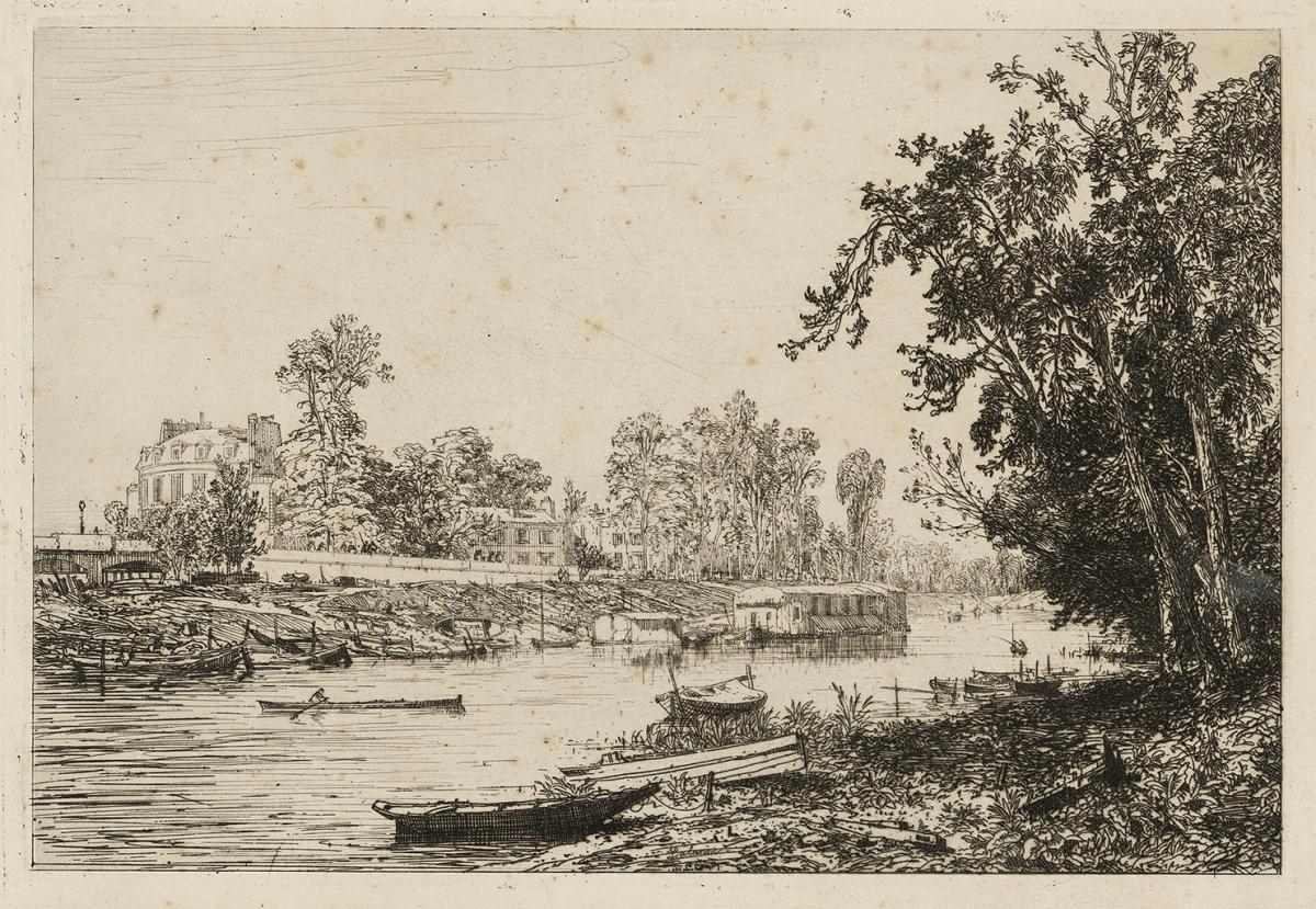 Lien agrandir l'image  : À Neuilly, Maxime Lalanne. Bordeaux, musée des Beaux-Arts. Serge Fernandez