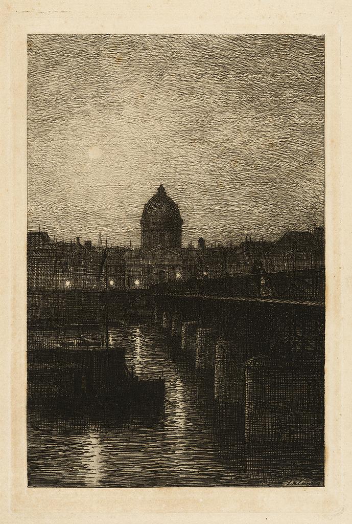 Lien agrandir l'image  : Pont des Arts, Paris. Maxime Lalanne. Bordeaux, musée des Beaux-Arts. Serge Fernandez