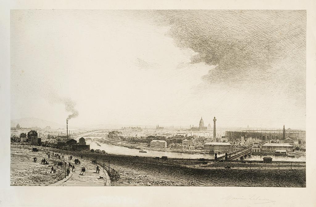 Lien agrandir l'image  : Vue prise du Trocadéro, Maxime Lalanne. Bordeaux, musée des Beaux-Arts. Serge Fernandez