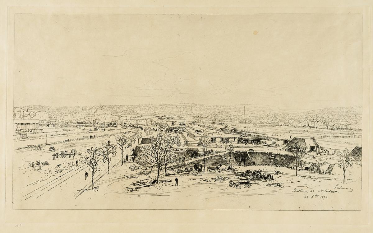 Lien agrandir l'image  : Bastion 65, Commune de Paris. Maxime Lalanne. Bordeaux, musée des Beaux-Arts. Serge Fernandez