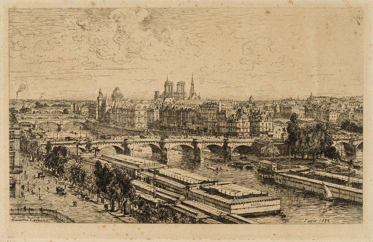 Lien agrandir l'image  : Ruines du Palais Gallien. Maxime Lalanne. Bordeaux, musée des Beaux-Arts. Serge Fernandez