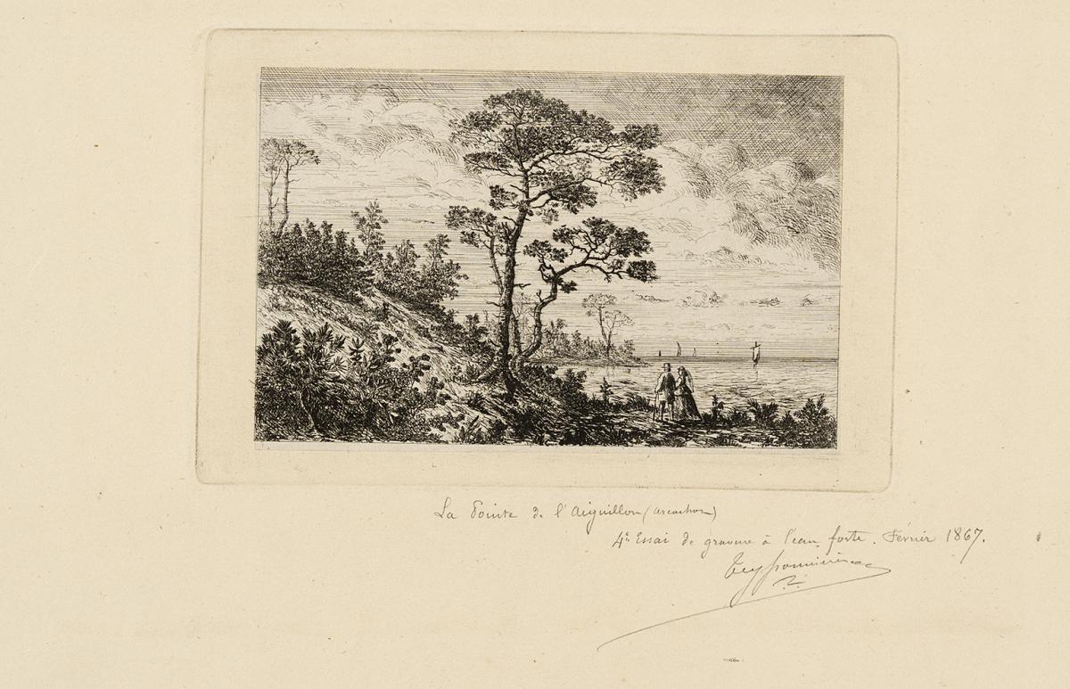 Lien pour agrandir l'image : Pierre Teyssonnières, Pointe de l'Aiguillon à Arcachon. Bordeaux, musée des Beaux-Arts. Serge Fernandez