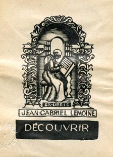 Image de l'ex-libris de Jean-Gabriel Lemoine
