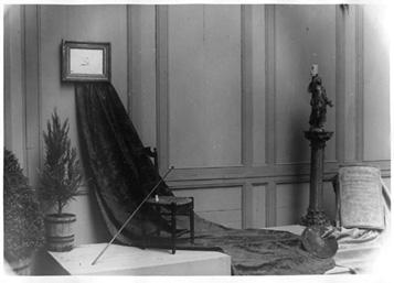 """Image du """"mémorial"""" de la mort de Goya installé dans l'exposition du 2ème centenaire de Goya"""