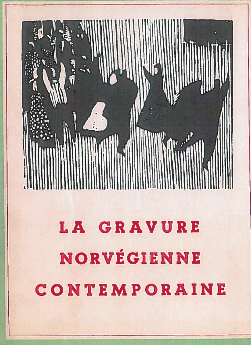 Lien vers le catalogue de l'exposition de 1956 ou 1957, La gravure norvégienne contemporaine