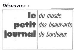 """Lien vers le Petit journal de l'exposition """"Pompiérisme et peinture équivoque"""", 1975 © Documentation du Musée des Beaux-Arts. Mairie de Bordeaux"""