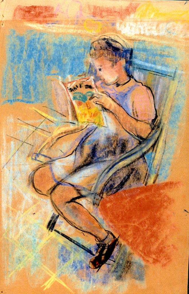 Odette Boyer-Chantoiseau. Annick, fille de l'artiste, 1946-1947. Collection particulière