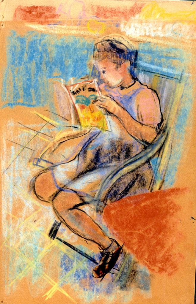 Odette Boyer-Chantoiseau. Annick, fille de l'artiste, 1946-1947. Collection particulière