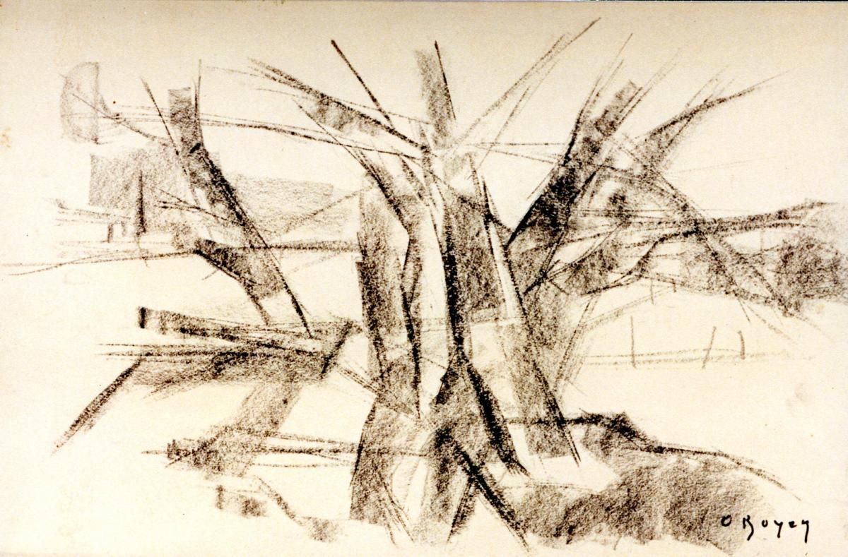 Odette Boyer-Chantoiseau. Arbres, 1955. Collection particulière