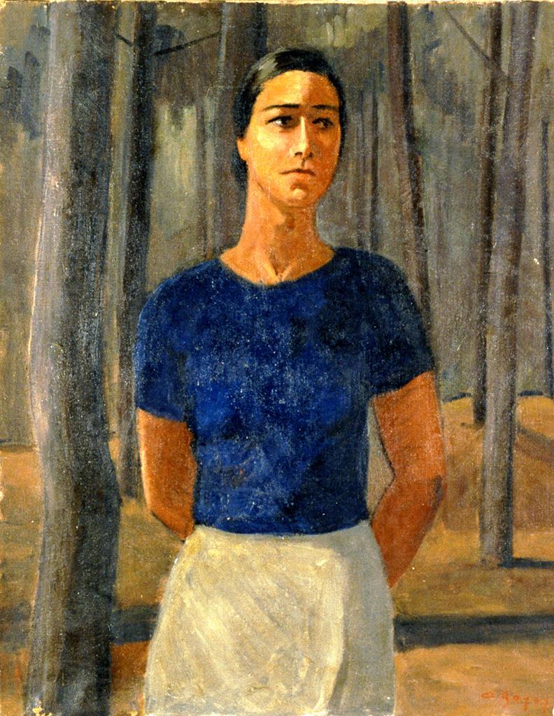 Odette Boyer-Chantoiseau. La Femme dans les pins, 1945. Collection particulière