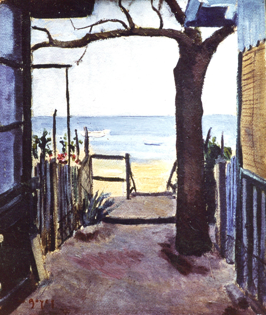 Odette Boyer-Chantoiseau. Le Bassin d'Arcachon, 1933. Collection particulière