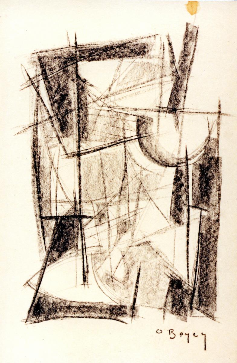 Odette Boyer-Chantoiseau. Carrelet, 1954. Collection particulière
