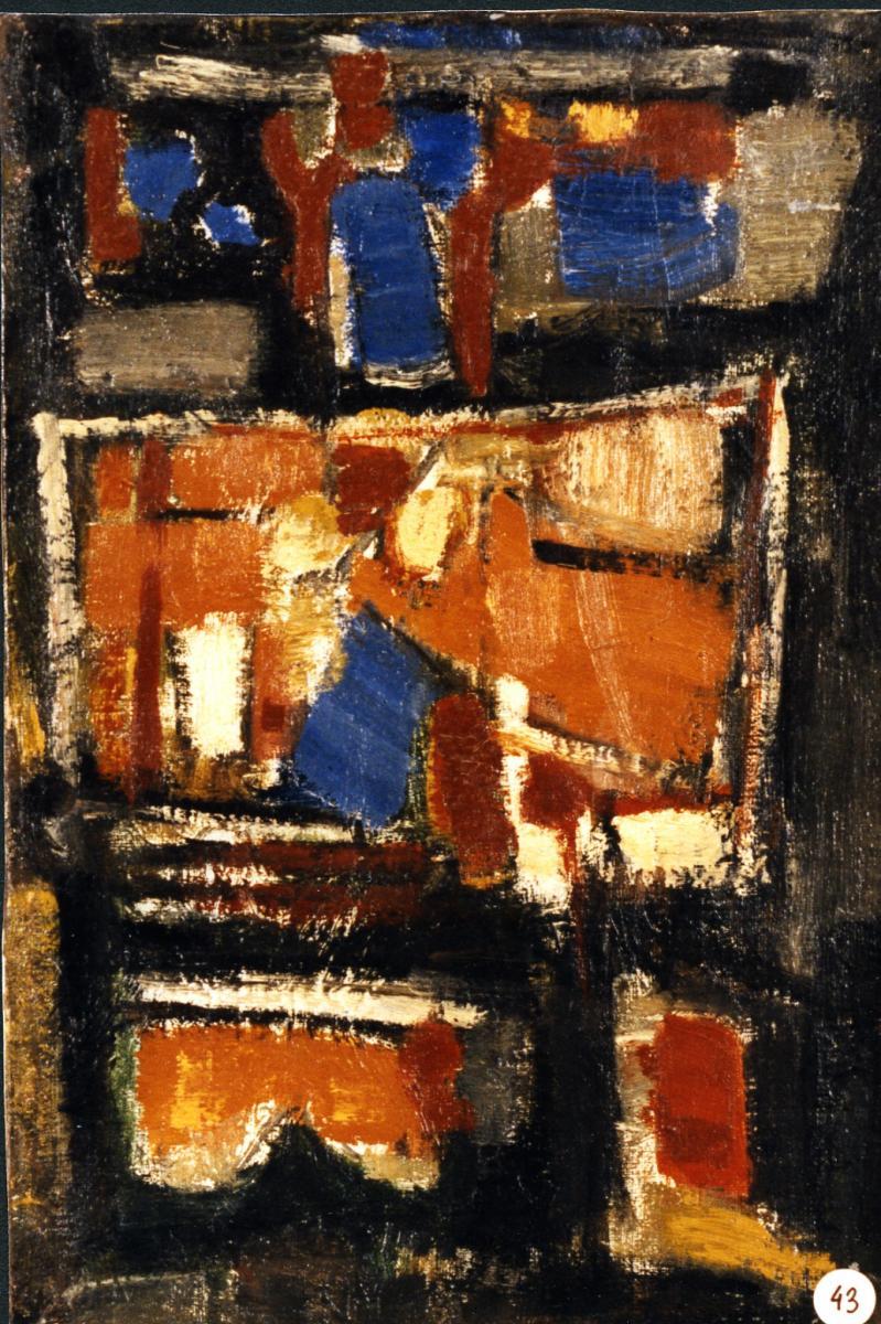 Odette Boyer-Chantoiseau. Composition, 1956. Collection particulière