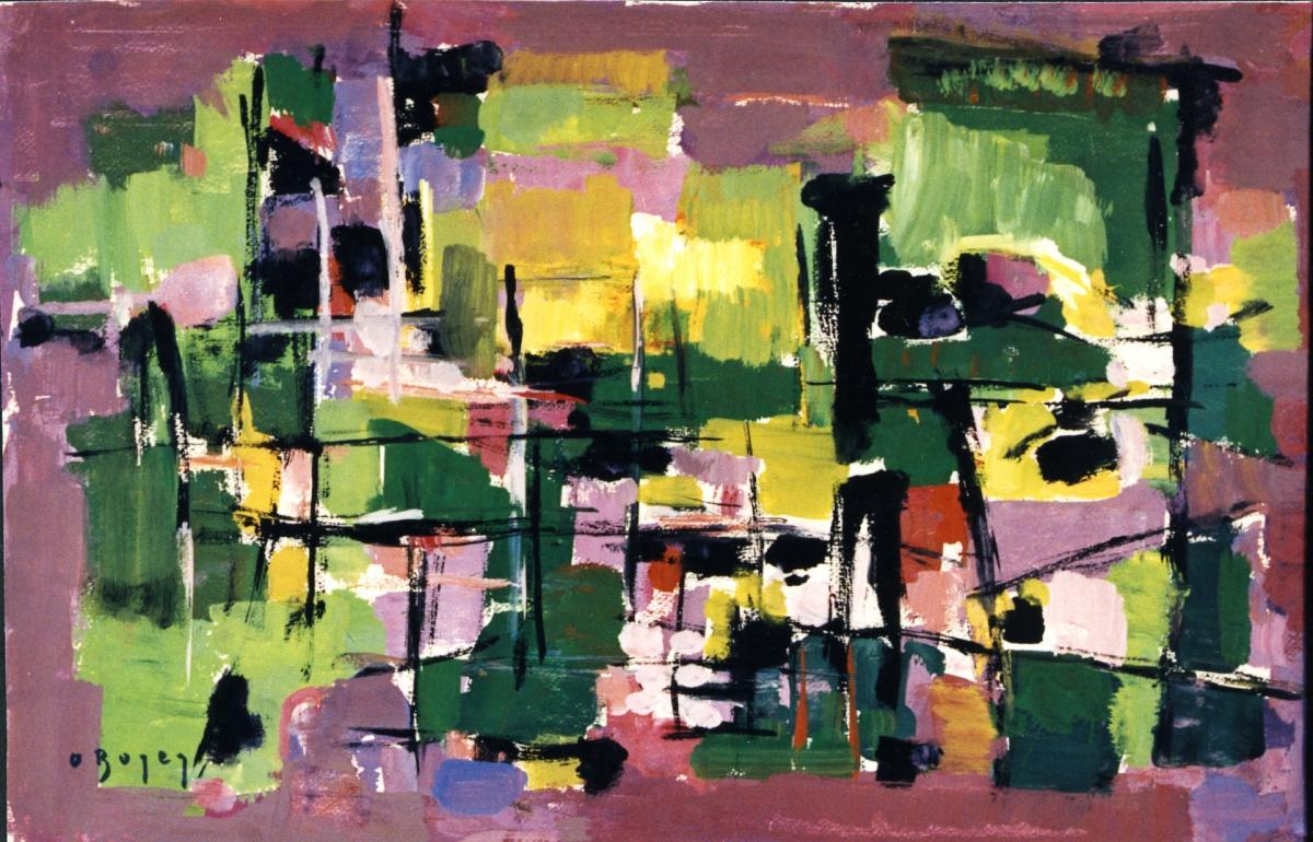 Odette Boyer-Chantoiseau. Composition, 1959. Collection particulière