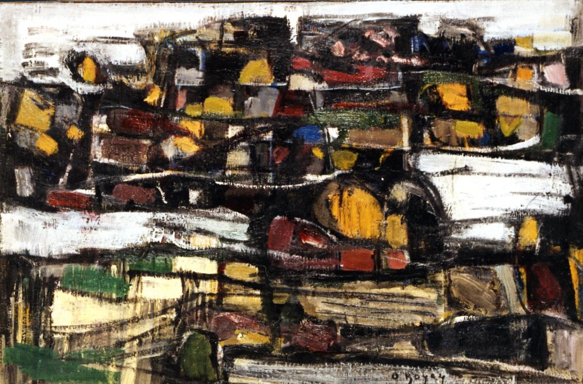 Odette Boyer-Chantoiseau. Rivage, 1959. Collection particulière