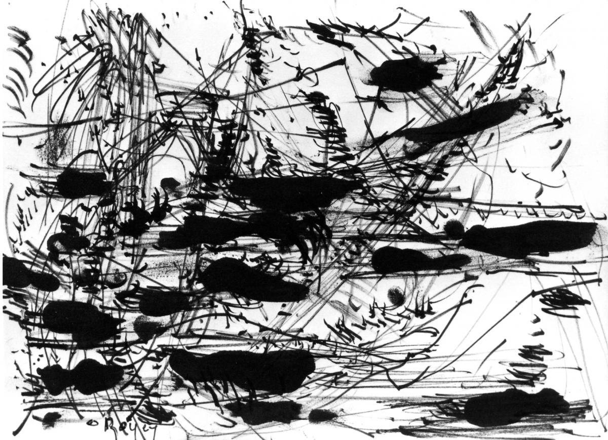 Odette Boyer-Chantoiseau.Composition, 1963. Collection particulière
