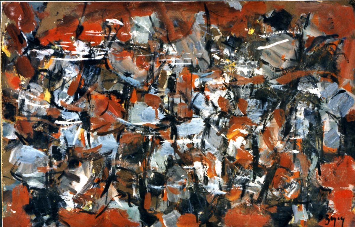 Odette Boyer-Chantoiseau. Composition, 1963. Collection particulière