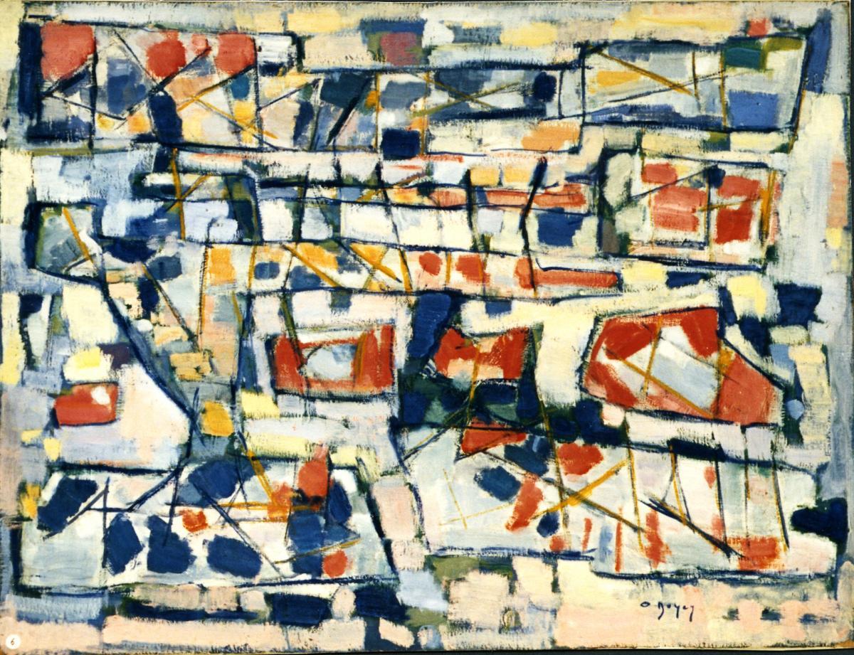 Odette Boyer-Chantoiseau. Etang gelé, 1956. Collection particulière