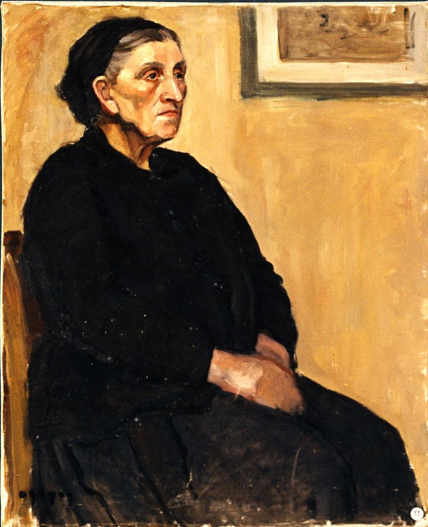Odette Boyer-Chantoiseau. Femme âgée, 1935-1936. Collection particulière